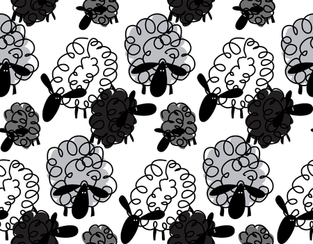 Original sheep pattern. Çizim