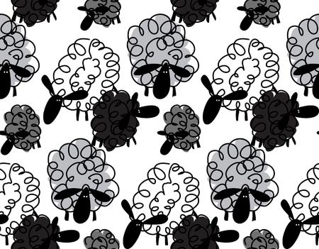 Original sheep pattern. Illustration