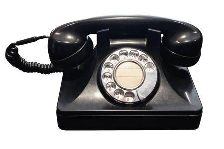 Antique téléphone est mourir à couper le chemin de fer Banque d'images - 84394586