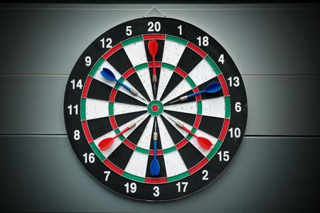 Darts and dartboard arrow game
