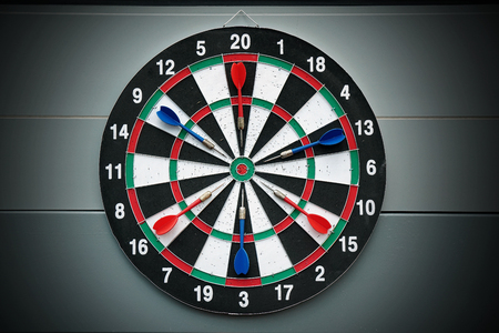 Darts and dartboard arrow game