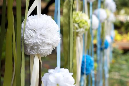 Beautiful wedding garden decoration
