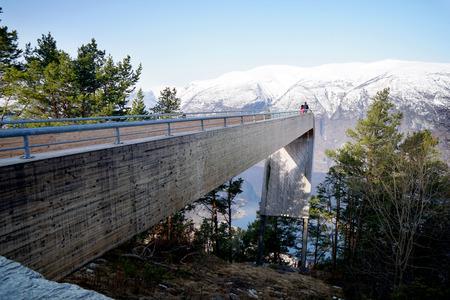 Stegastein lookout at Aurland fjord, Norway