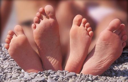 debility: Childrens and female feet