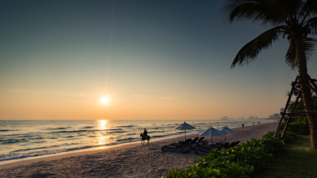 hin: sunrise at beach.