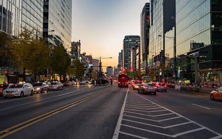 walking on street