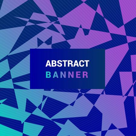 Abstract creative banner with a background of angular shapes. Minimal geometric vector background.  Colorful gradient posters for use as a web and application design, banners, posters, advertising and more
