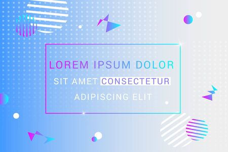 Abstract blue vector background. Futuristic design posters with place for text or message. Colorful geometric background for use as a web and application design, banners, posters, advertising and more