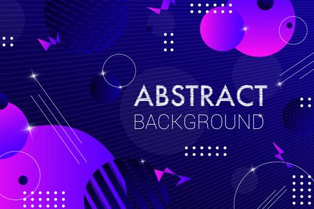Abstract dark blue composition with round shapes. Creative vector background. Colorful geometric background for use as a web and application design, banners, posters, advertising  イラスト・ベクター素材