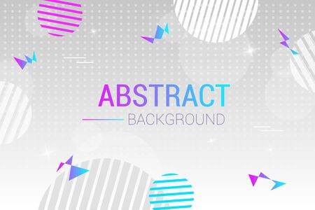 Abstract light vector background with circles. Futuristic design posters with place for text or message. Colorful geometric background for use as a web and application design, banners, posters, advert