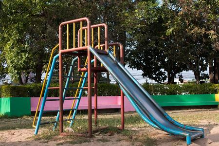 children playground in park ,