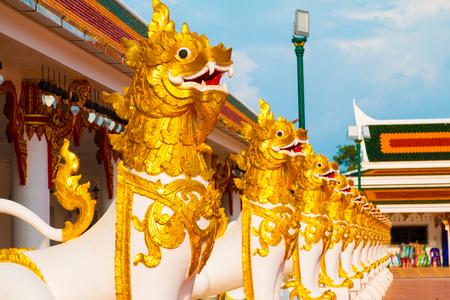 pra: Sculpture dragon at Wat Pra That Choeng Chum, Sakon Nakhon Thailand