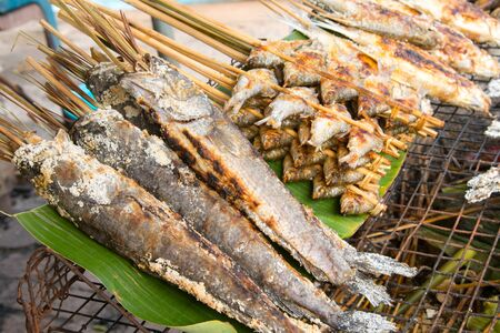quemadura: Tilapia baked salt burn in Thailand