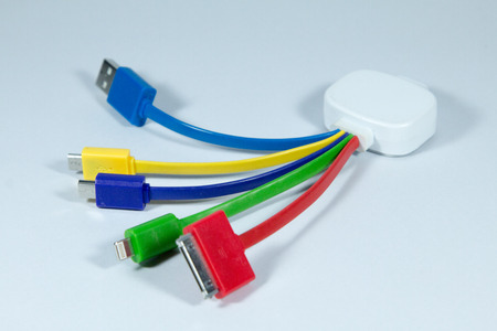 hdmi: Connectors and sockets for PC and mobile devices Stock Photo