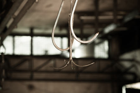 Pig Hook in slaughterhouse