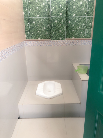soft focus toilet in public. Stock Photo
