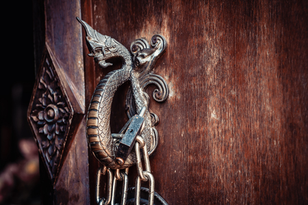 Close up of  Naga  Door Handle. Stock fotó