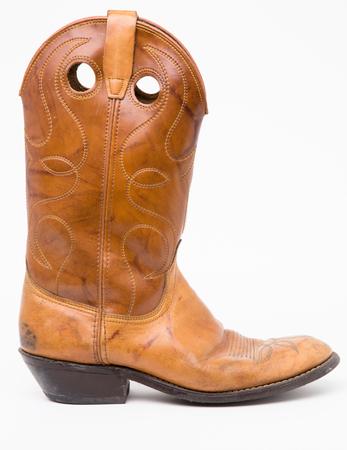 foot ware: cowboy boots, vintage Stock Photo