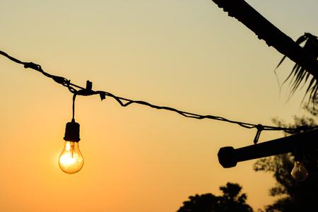 suspend: sun bulb Stock Photo