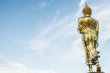 behind the scenes: back of the buddha Stock Photo