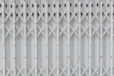 sliding door: steel sliding door Stock Photo
