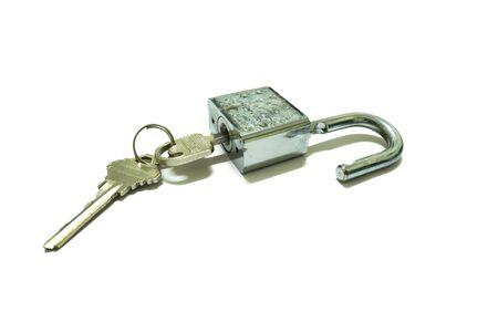 lock and key: lock and key isolated Stock Photo