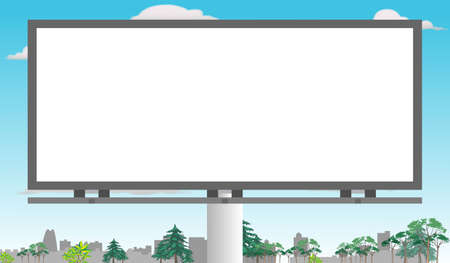 Billboard in the middle of city for copy space (Horizontal)