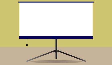 Blank flip chart ,Business info graphic ,Whiteboard isolated on background. Vector illustration flat design.Blank projector screen