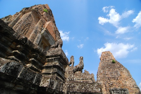 sacrifice: Stone Stupa for god sacrifice at Siem Reap, Cambodia