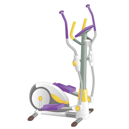 Elliptical machine gym isolated on white background. Vector