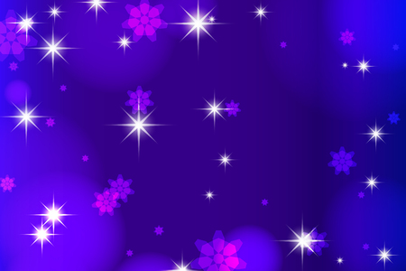 Dark blue background with highlights and stars.