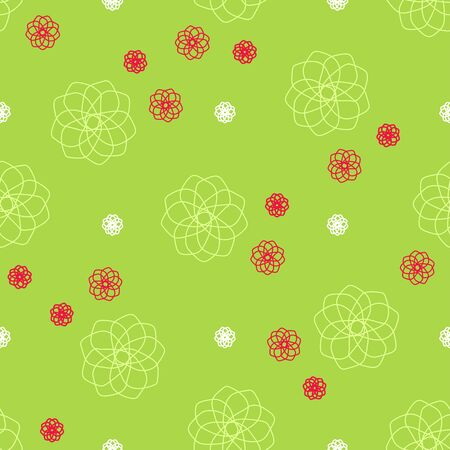 Abstract green seamless vector pattern.