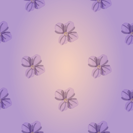 Soft purple vector seamless pattern with beautiful flowers. Floral backdrop for your design and textiles