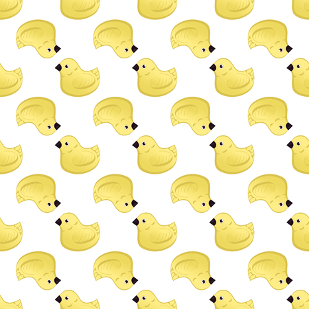Vector seamless pattern with ducklings. Cute backdrop for textiles and any other design for children