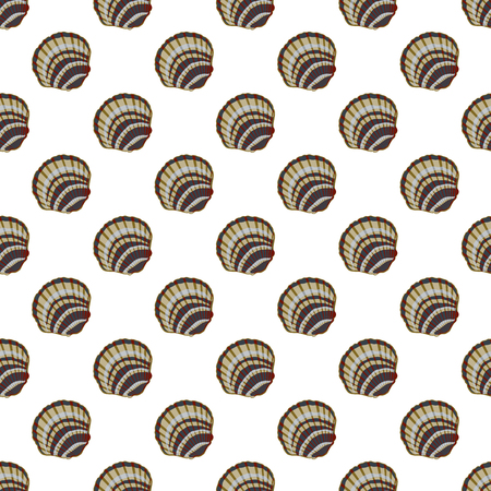 Vector seamless pattern with seashells. Stylish marine themes backdrop for textiles and any other design