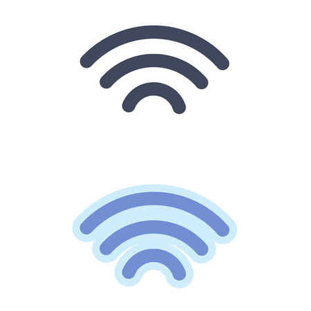 Wi-fi telecommunications symbol isolated on white background. Can be used for wireless router. Vector illustration