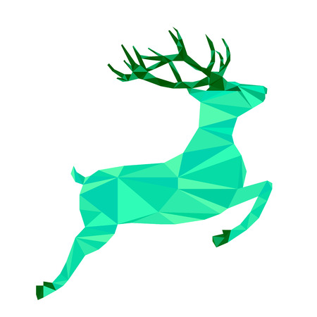 Abstract polygonal geometric deer. Triangle low poly animal . Nature wildlife theme for design card, invitation, banner, poster, book, album.