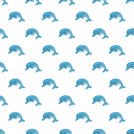 Seamless pattern with dolphins. Cute marine pattern for fabric, baby clothes, background, textile,wrapping paper and other decoration.Vector illustration