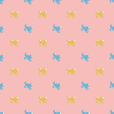Cute seamless pattern with bows. Simple style vector illustration. Cloth design, wallpaper, wrapping