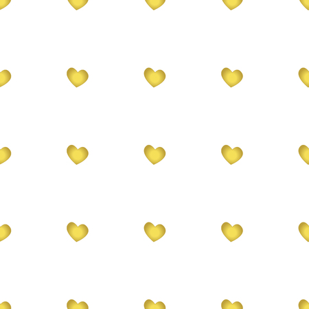 Vintage seamless heart pattern. Cute simple style hearts on a white background. Romantic vector illustration Иллюстрация