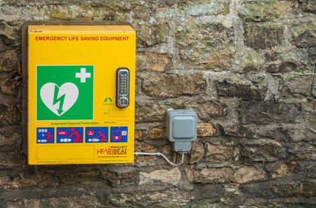 Community Heartbeat Trust defibrillator installed in Gloucestershire village