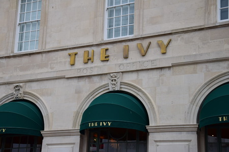 Facade from The Ivy restaurant in the Old Post Office on Ship Street, Brighton