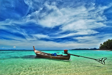 Boat in sea, south of Thailand photo