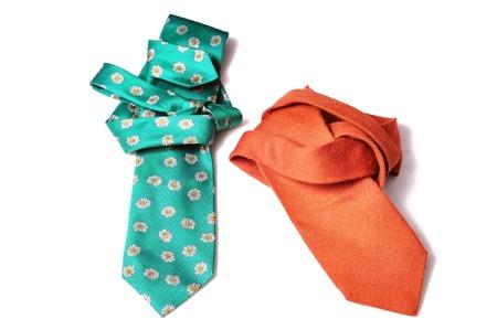 Green and orange neck tie Stock Photo - 9610406