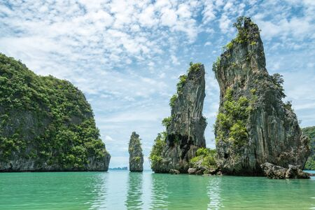 koh kudu island located north of koh yao noi in Phuket thailand. beautiful spot for take a photo