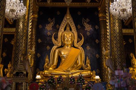 Chinnarat buddha sculpture at Pitsanulok Thailand. The Most beautiful buddhist sculpture in Thailand.