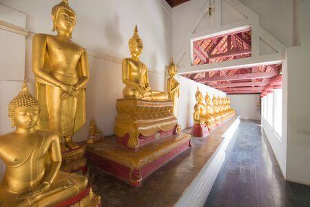 Row of buddha sculpture in Thailand Stock fotó