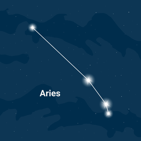 The constellation Aries (The Ram) - Vector