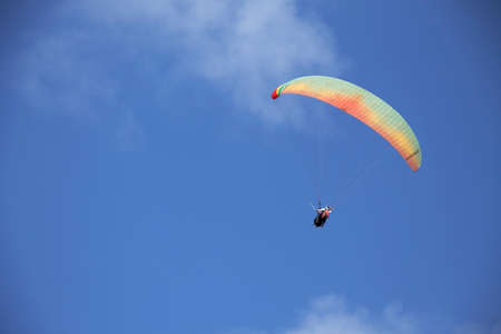 excite: Paragliding at Pandawa Beach Stock Photo