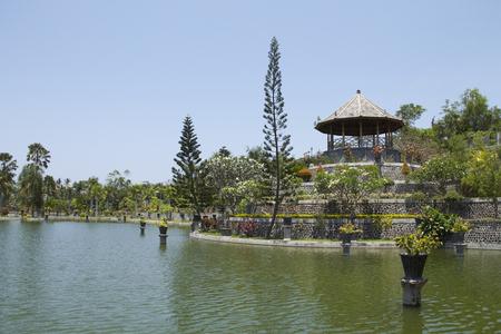 taman: Pavilion in Taman Soekasada Ujung Water Palace Editorial